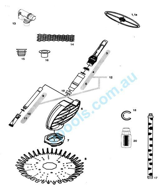 Zodiac G2 Cleaner Parts List
